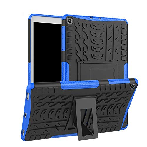 Sun Van Case for Samsung Galaxy Tab A 10.1 (2019) T510 T515, Kickstand Heavy Duty Silicone Soft TPU Anti-Drop Armor Hybrid Protective Rugged PC Tablet Cover for Samsung Galaxy Tab A 10.1