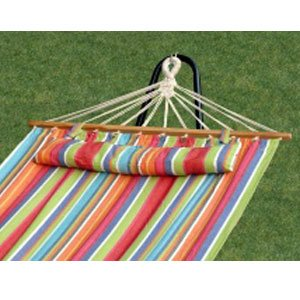 Bliss Hammock Stand (Bliss Hammocks BH-404B Oversized Hammock with Spreader Bar and Pillow - Tropical Fruit)