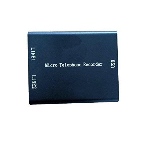 eoqo Mini Analog Telephone Voice Recorder, Micro SD Card Phone Voice Recorder, Super Mini USB Telephone Recorder Built in 8GB Memory