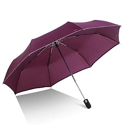 Paraguas plegable automatico Mujer niño Hombre an- Negocio automático del Paraguas Tres Lluvia Plegable y