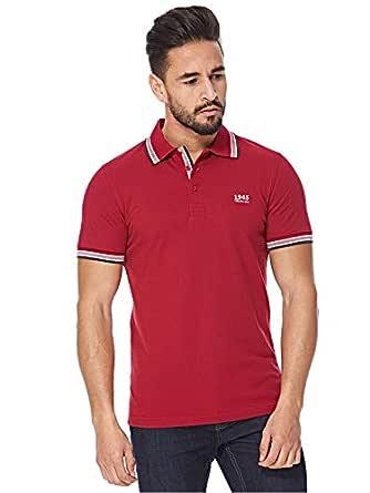 Balmain Red V Neck Polo For Men