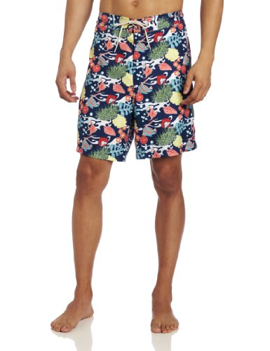 Nautica Print Trunk (Nautica Men's Sealife Print Trunk, Twilight Blue, X-Large)
