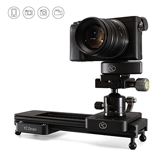 Portable DSLR Dolly Camera Slider - 9'/23 cm Hydraulic Damping Slider for Video Shooting, Camera Track Slider with Adjustable Damping and Safety Lock for Cameras Phones Gopro (Upgrade)