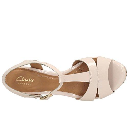 Clarks 261164675 09 - Sandalias de vestir de charol para mujer Rojo