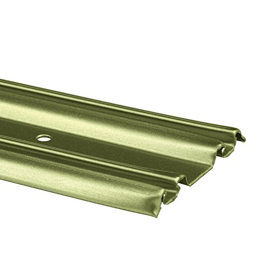 Prime Line Products N 6881 By Pass Mirror Door Bottom Track, 72 In.,  Roll Formed Steel, Champagne Gold Finish