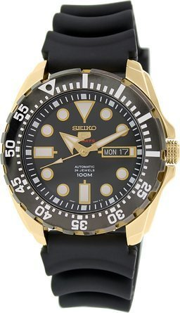 Seiko 5sports Men's Automatic Rubber Band Watch 100M W/R - (Made in Japan) - SRP608J1