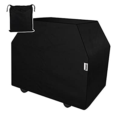 HOMMAYS Heavy Duty Grill Cover 60 inch waterproof UV Resistant Rip Stop Durable Polyester Patio Outdoor Bbq Cover Fit for Medium Gas Charcoal Electric Barbeque Grill Guard(4-5 burners)