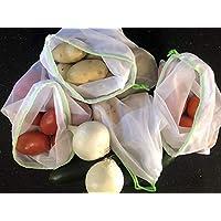 8 bolsas ecologicas para la fruta y la verdura supermercado, 1 solo tamaño todas las bolsas