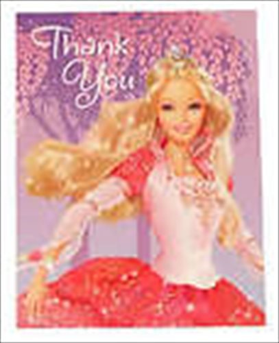 Barbie '12 Dancing Princesses' Thank You Notes w/ Envelopes (8ct)