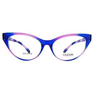 Agstum Ladies Womens Cat eye Glasses Frame Optical TR90 Eyeglasses (Colored)