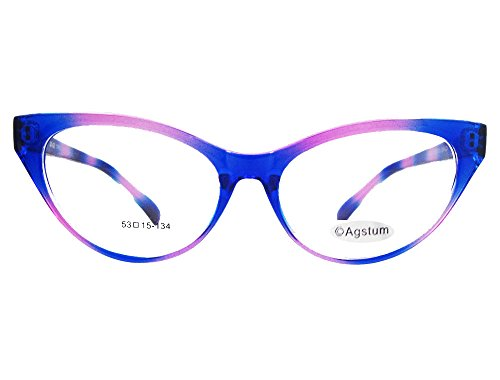 Agstum Ladies Womens Cat eye Glasses Frame Optical TR90 Eyeglasses - Frames Female Eyeglasses