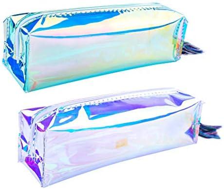 iSuperb Estuche Escolar 2 Piezas Laser Bolsa para Lapices Estudiante Plumier Colegio Color Sólido 20 x 7 x 5 cm (B): Amazon.es: Oficina y papelería