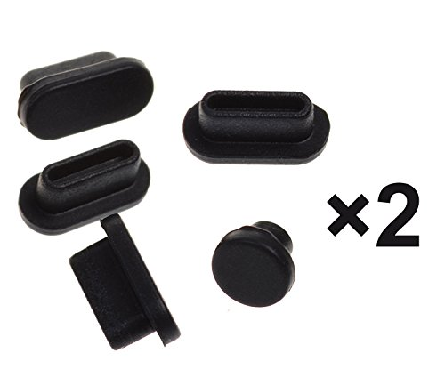 "(10PCS) Anti Dust Port Plugs Cover Dust Cups for Latest Macbook Pro 13"" A1706 A1708 and MacBook Pro 15"" 1707 with/without Touch Bar(2016/2017 Release), Black"