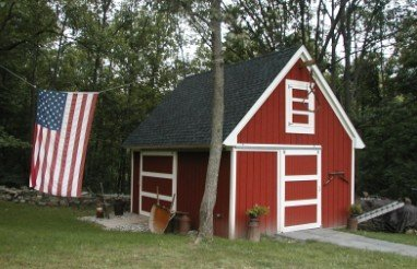 Candlewood Mini-Barn, Shed, Garage and Workshop - Pole Barn Plans by American Wood Pole Barn Plans (Image #3)