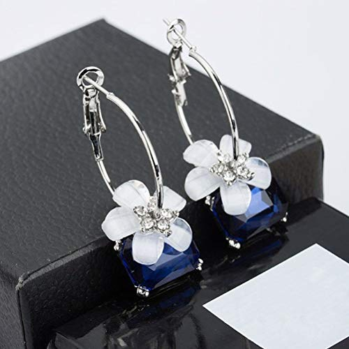 (1set Crystal Earrings Fashion Metal Unique Cherry Blossom Ear Studs for Party Banquet)