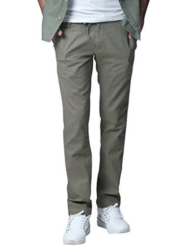 Flat Front Linen Trousers - 5