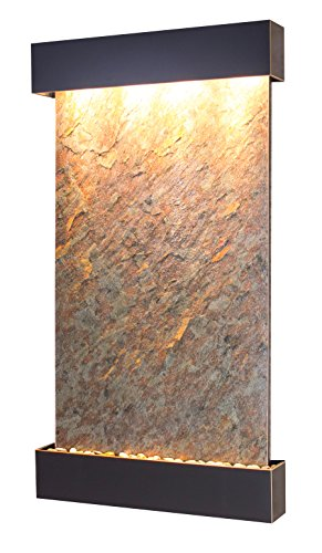 (Summit Falls Water Feature with Blackened Copper Trim and Square Edges (Green FeatherStone))