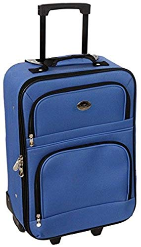 Jetstream 20 Inch Lightweight Luggage Softside Carry On Suitcase (Blue)