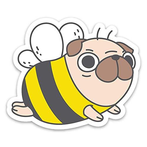 Pug Bee Costume (Pug Bee Pug Vinyl Sticker Laptop)