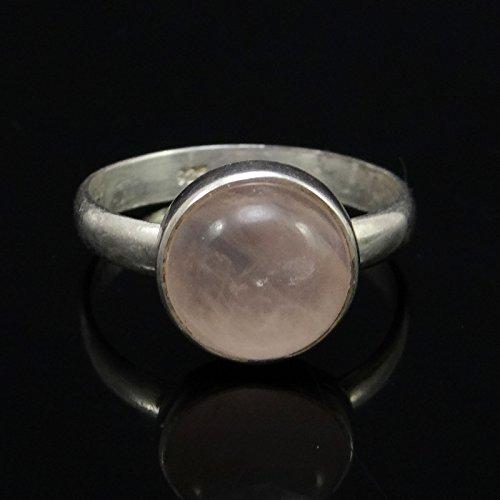 Banithani925 argent sterling rose bague de pierres précieuses quartz indien bijoux fantaisie
