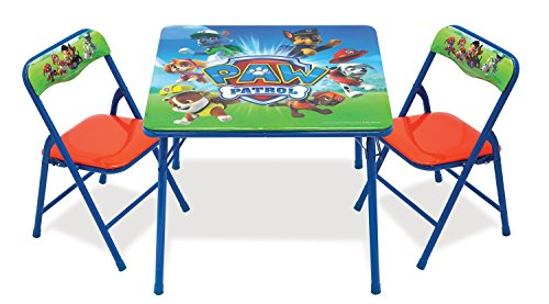 Outdoor Kids Chairs Set - Paw Patrol Activity Table Sets