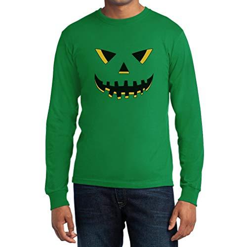 Maglia Che Manica Verde Lantern Uomo O' Jack Lunga Zucca Di Halloween Ride 6qS4SA