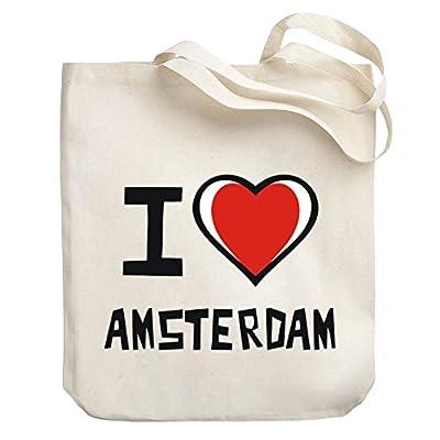 5e8fed3c6d Teeburon I love Amsterdam Canvas Tote Bag hot sale 2017 ...
