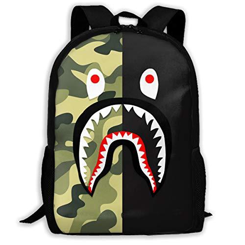 K-dark Ba-pe Youth Adult Backpack Shoulder Bag School Bag Bookbag for Hiking Traveling School