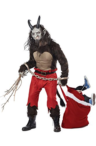 [Mememall Fashion Krampus the Christmas Demon Horns Devil Men Adult Costume] (Wicked Jester Deluxe Adult Mens Costumes)