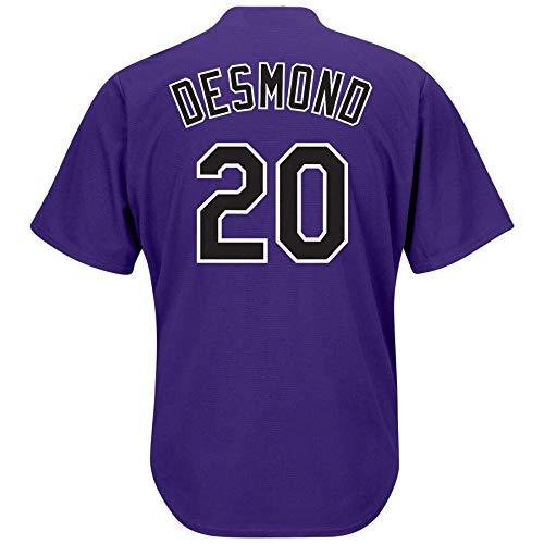(Men's/Women/Youth_Colorado_#20_Ian_Desmond_Purple_Alternate_Cool_Base_Player_Jersey)
