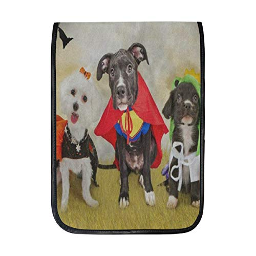 Ipad Pro 12-12.9 inch Sleeve Case Bag for Surface Pro Hipster Puppy Dog Dressed in Halloween Costumes Mac Protective Carrying Cover Handbag for 11
