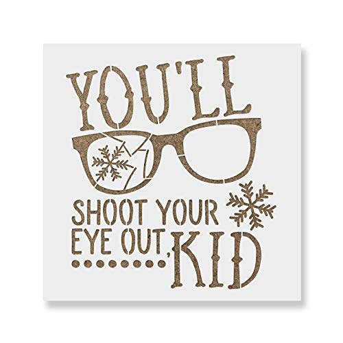 Shoot Your Eye Out Stencil Template for Crafting - Reusable Stencils for Painting in Small & Large Sizes