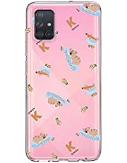 Oihxse Compatible con Samsung Galaxy A10/M10/A105 Funda Cristal Silicona TPU Suave Ultra-Delgado Protector Estuche Creativa Patrón Protector Anti-Choque Carcasa Cover(Pereza A7)