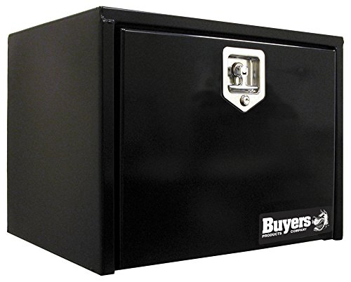 Buyers Products Black Steel Underbody Truck Box w/ T-Handle Latch (18x18x24 - Tool Box Inch 24