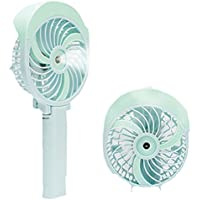 ANEWSIR Mini Misting Handheld Fan Portable Battery Foldable Fan Personal Fan Rechargeable USB for Travel, Outdoor, Office, Home [Blue]