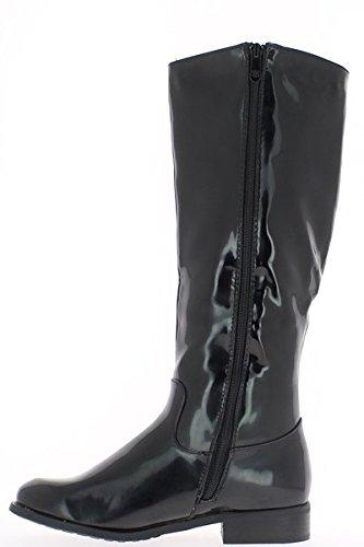Donna pioggia viola decorata rod e stivali tacco 3cm