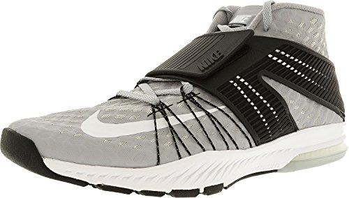 Zapatillas Nike Zoom para hombre Toranada Tb Wolf gris / blanco-negro Zapato cruzado para tobillo-alto - 10.5M