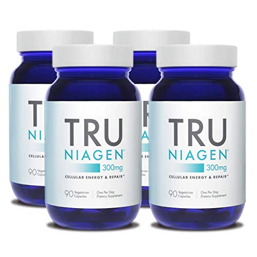 TRU NIAGEN NAD+ Booster for Cellular Repair & Energy Metabolism (Nicotinamide Riboside) – 300mg Vegetarian Capsules…