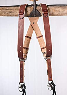 product image for HoldFast Gear Money Maker Multi-Camera Harness, Bridle Leather, Small, Chestnut