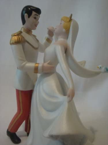 Cinderella and Prince Charming Porcelain Figurine 45th Anniversary Cinderella Collectible Porcelain