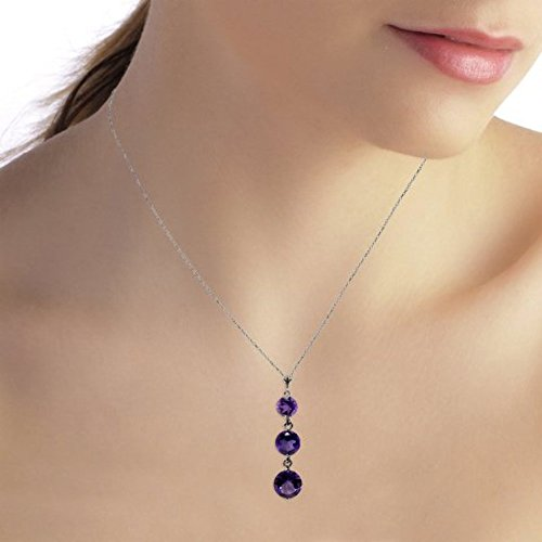 14k White Gold Drop Pendant - 14k 14