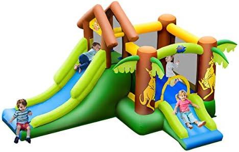 COSTWAY Castillo Hinchable con Tobogán para Infantil Parque Centro ...