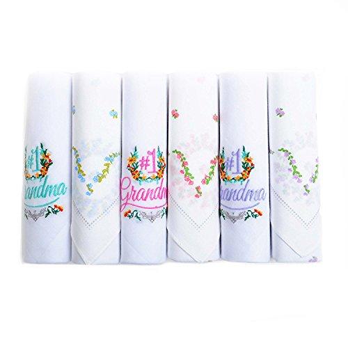 Grandma Handkerchief - Boxed-Gifts #1 Grandma 6pc Assorted Handkerchief Set