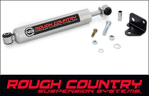 Rough Country 8731730 4WD 4WD N3 Steering Stabilizer for Jeep TJ, XK, MJ, ZJ, WJ, and GM 2500, 3500 HD