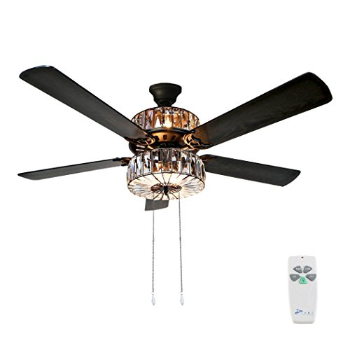 Crystal Eighteen Light Chandelier - River of Goods  16553S Caged Crystal Ceiling Fan