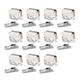 LOOTICH Push to Open Mini Latch for Kitchen Cabinet Cupboard Wardrobe Door Automatic Spring Flap Touch Catch for Screw Fixing Pack of 11