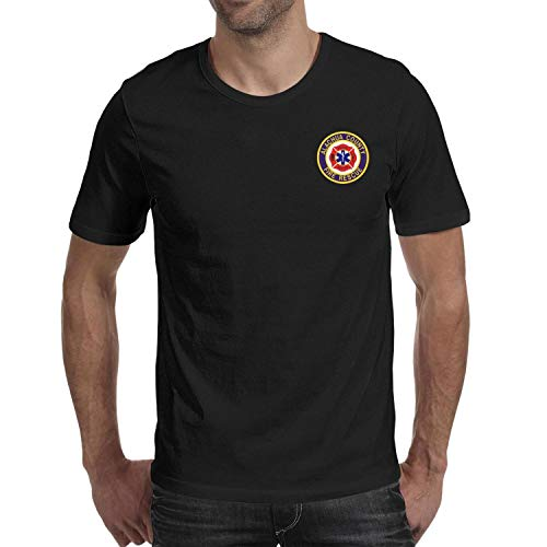 DXQIANG Alachua County Fire Rescue Design Mens Casual T-Shirts Slim Fit Tee Tops