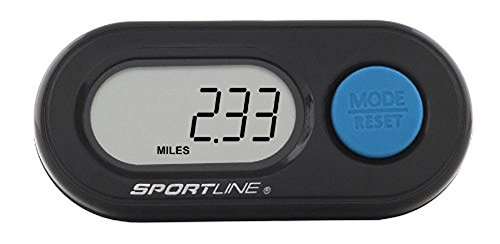 Sportline 340 DS Step Pedometer With Single Button Operation For Step, Distance, Plus  ()