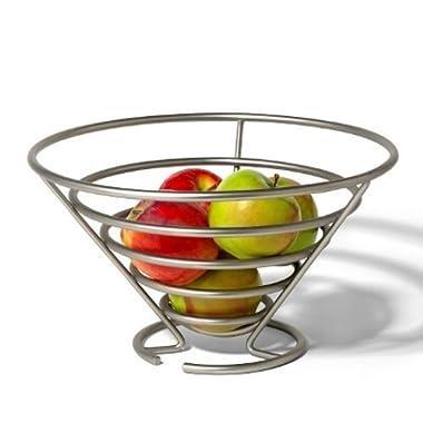 Spectrum Diversified 46978 Euro Fruit Bowl, Satin Nickel