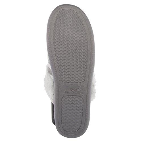 Aerosoles Comode Pantofole Da Casa Imbottite Per Donna, Zoccoli Mulo, Scarpe Calde E Morbide Al Coperto O Allaperto Strisce Grigie E Bianche